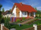 Проект привлекательного дома с цоколем и гаражом